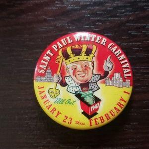 Vintage Saint Paul Winter Carnival Pin 1942